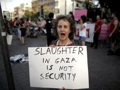Do you also think that Its slaughter not security in GHAZA