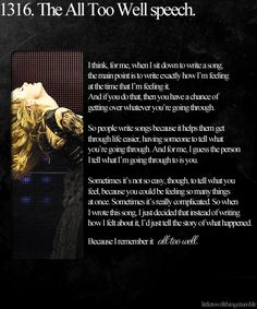 made me tear up at her concert <3 she has a way with words