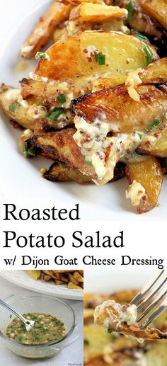 This Roasted Potato Salad with Dijon and Goat Cheese Dressing was inspired by a somewhat similar recipe from this month�s issue of Cooking Light. Their version is called a Roasted Potato Salad with Creamy Dijon Vinaigrette. Now I didn�t have a couple of