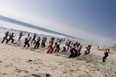 Yoga on the beach- Carlsbad, CA