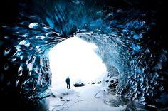 Inside an ice cave
