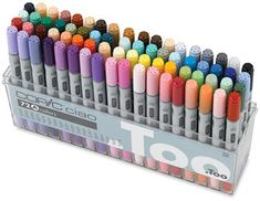 COPIC markers 72 color set A...One day they will be mine (along with Part B)... *stares with determination*