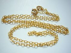 Finished Gold Filled Chain 23 or 24 inches 20 x by EstyloJewelry, $14.00