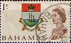 Postage Stamps of Bahamas 1967 Decimal SG 295 Coat of Arms Fine Used Scott 252 Other West Indies and British Commonwealth Stamps HERE!