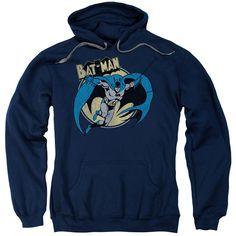 Adult Batman/Through the Night Navy Pullover Hoodie