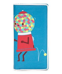 This Blue Dancing Gumball Machine Wallet is perfect! #zulilyfinds