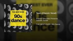 Tears (Classic Vocal) - YouTube Frankie Knuckles, Personality Profile, Dance, How To Plan, Big, Classic, Youtube, Dancing, Derby