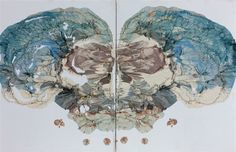 Skull Rorschach #2 by Ben  Quilty
