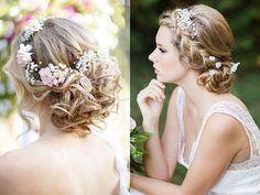 Peinados con coronas de flores para tu boda | ActitudFEM