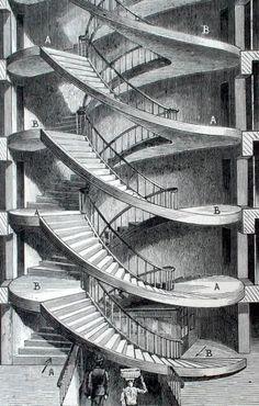 Escalera 48, rue de Valois (París - Francia)