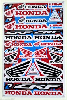 If brand recognition makes a bike more appealing to a thief what about a brand that doesn't make bicycles? HONDA STICKER SHEET