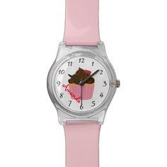 Boutique Bakery Baker Cupcake Custom Name Watch