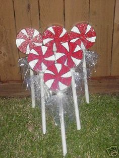 Christmas Outdoor Yard Decorations Peppermint Lollipops
