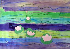 Monet Waterlillies Art Lesson for Kids