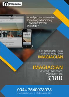 Get CMS based and Responsive Websites Just for £180 Contact us : 0044-7540973073