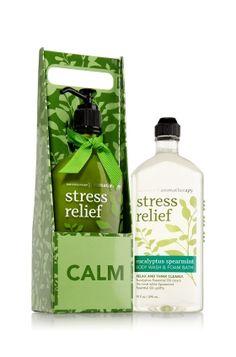 Aromatherapy eucalyptus spearmint stress relief body wash and lotion bundle from Bath & Body Works