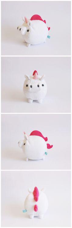 Mini unicornio bola. handmade toy unicorn stuffed plush cute kawaii
