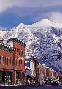 Downtown Telluride- one of most beautiful places in the world