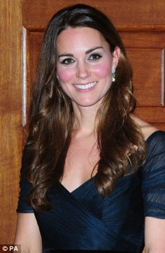 Kate looked stunning in the ink blue silk tulle gown by one of her favourite designers Jenny Packham