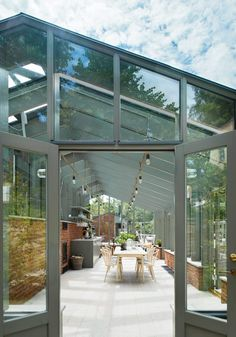 "Awesome ""greenhouse ideas interior design"" detail is available on our internet site. Have a look and you wont be sorry you did. Greenhouse Attached To House, Diy Greenhouse, Outdoor Spaces, Indoor Outdoor, Outdoor Living, Outdoor Decor, Orangerie Extension, Sunken Garden, Green Rooms"