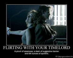 The Doctor and River Song Fan Art: What Big Flirts They Are