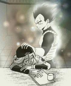 Future Vegeta touching Future Bulma, so sad 😭😭😢 Dragon Ball Gt, Dbz, Ssj3, Dragon Images, Sad Art, Cute Anime Couples, Anime Love, Manga Anime, Briefs