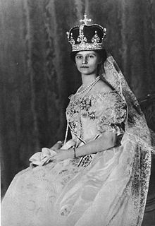 The Princess Zita of Bourbon-Parma (1892-1989). She was a daughter of Sovereign Duke Roberto I of Parma and his 2nd wife, The Infanta Maria Antónia of Portugal. She was the wife (1911-1916), Empress of Austria (1916-1918, nominally 1918-1922) as the wife of Emperor Karl I. Her children were The Crown Prince Otto, Robert The Archduke of Austria-Este, The Archdukes Felix, Karl, and Rudolf, and The Archduchesses Adelheid, Charlotte, and Elisabeth.