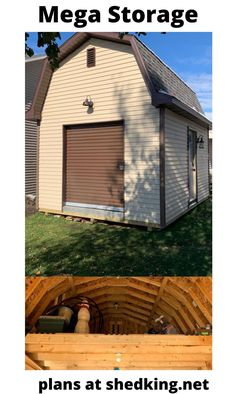 Cory built this awesome 12'x16' barn shed with a neat roll up shed door and huge loft area.  He can easily move his mower and atv in and out with ease.  Learn more about the shed plans Cory used by visiting us today at shedking.net