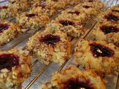 Thumbprint Cookies . . . filled with jam
