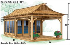 Tea House Shed With Sitting Porch Garden Exteriors in Tea House Plans Bali, Tyni House, Shed With Porch, Japanese Tea House, Traditional Japanese House, House Design Pictures, Pergola, Porch Gazebo, Porch Garden