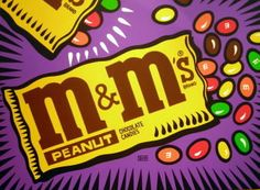 Pop Art ~ Peanut M&Ms by Burton Morris M & M's