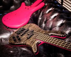 Streamer LXs with AAA colored flamed Maple body, Nirvana black satin top and pink satin back finish #warwick #framus #warwickbass #framusguitar #bass #guitar #instrument #music #musician #sound #strings #wood #woodporn #play #player #color #colorful #amps #amplification #acoustic #acousticguitar