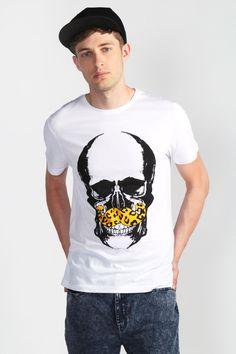 Moustache Skull Tee    #menswear #fashion #skulltee #moustachetee