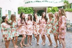 Hooray! It's the morning of your wedding (and you've probably started hair and makeup at 7 a.m.) but that's what it takes to look absolutely picture perfect before you walk down the aisle to meet your handsome husband. Just as your photographer arrives, make sure he/she gets a few of these snapshots in the making:  1. Patterned Robes -Gift your bridesmaids floral patterned robes, oversized monogrammed button-up shirts, or rhinestone tank tops and shorts to wear. ...