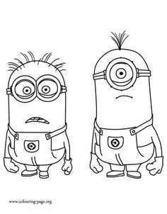 "Minion Coloring Pages For Kids from Minions Coloring Pages. On this page, you can find many drawings of Minions to color. The Minions are the funniest creatures in the movie ""Despicable Me"" and ""Minions"". Dance Coloring Pages, Minion Coloring Pages, Disney Coloring Pages, Coloring Pages To Print, Coloring Book Pages, Printable Coloring Pages, Coloring Pages For Kids, Coloring Sheets, Kevin Minion"