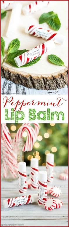 Peppermint Lip Balm - great stocking stuffer and handmade gift idea!