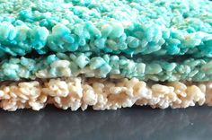 Three layers of Ombre Rice Krispie Treats