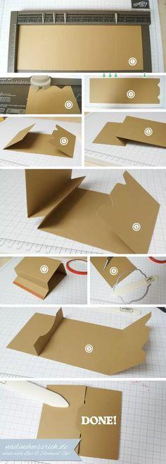 Tutorial: Geschenkgutschein-Karte / Gift-Card-Holder - www.nadinehoessrich.de