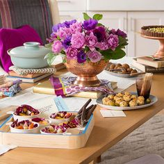 Host a Book Club Recipe Party and Don't Forget To Set a Colorful Table