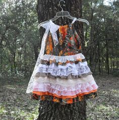 Camo fabric dress Made to order camo and by camoandcountrycuties