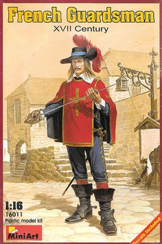 French Guardsman XVII Century 1/16, Mini Art, Box Opened, Bags all sealed! #MINIART