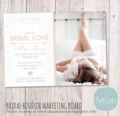 Valentine Bridal Boudoir Marketing Board   by PaperLarkDesigns, $8.00