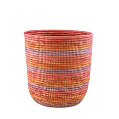 African Bath Bin Basket - Aqua
