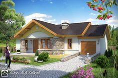 #Skowronek  #projekty domów Modern House Facades, Modern Bungalow House, House Construction Plan, Facade House, Home Fashion, My Dream Home, House Plans, Cottage, Mansions