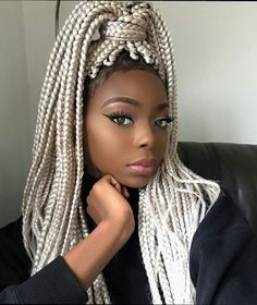 : 42 Catchy Cornrow Braids Hairstyles Ideas to Try in 2019 blackhairstylesbraids braided braidedhair braidedhairstyles braidedhairstylesart braidedhairstylesforblackwomen Braids are extremely popular today. It seems that braided hairstyles never go out of Afro Braids, Blonde Box Braids, Braids For Black Hair, Pink Box Braids, Kanekalon Braids, Fulani Braids, Afro Hair, Box Braids Hairstyles, African Hairstyles