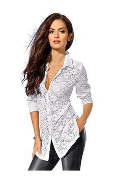 Дамска блуза в бял цвят - Alba Moda | Stilago
