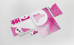 Our corporate image: business card, letter, poster, block notes, pencil, rubber.