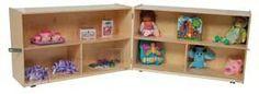 Wood Designs - X-Deep Folding Versatile Storage Unit - School Furniture, Kids Furniture, Kitchen Bookcase, America Furniture, Aleta, Baltic Birch Plywood, Cubbies, Healthy Kids, Wood Design