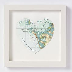 Love this Anna Maria Island Map Heart. I bet I could make it though!