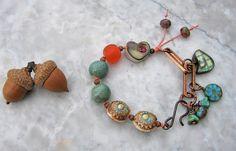 patina bracelet  . . . by marthasrubyacorn on Etsy, $49.00